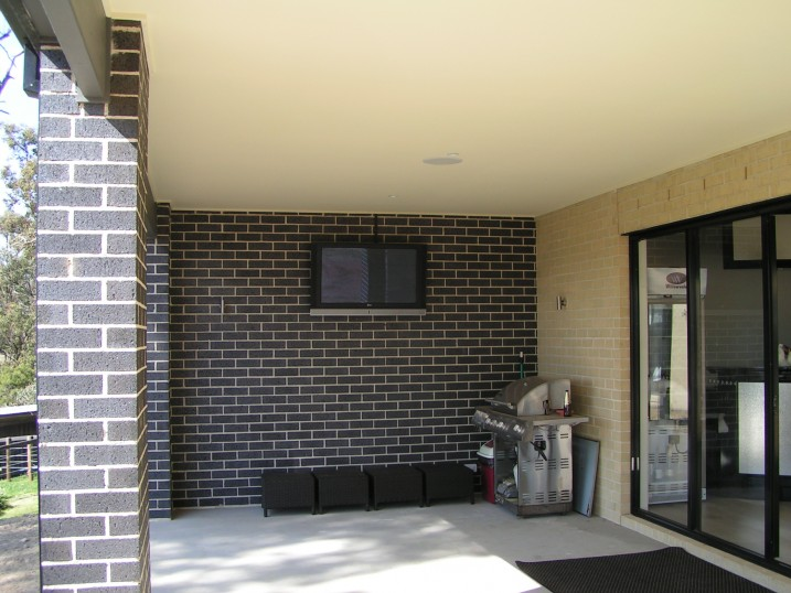 Outdoor TV and speakers