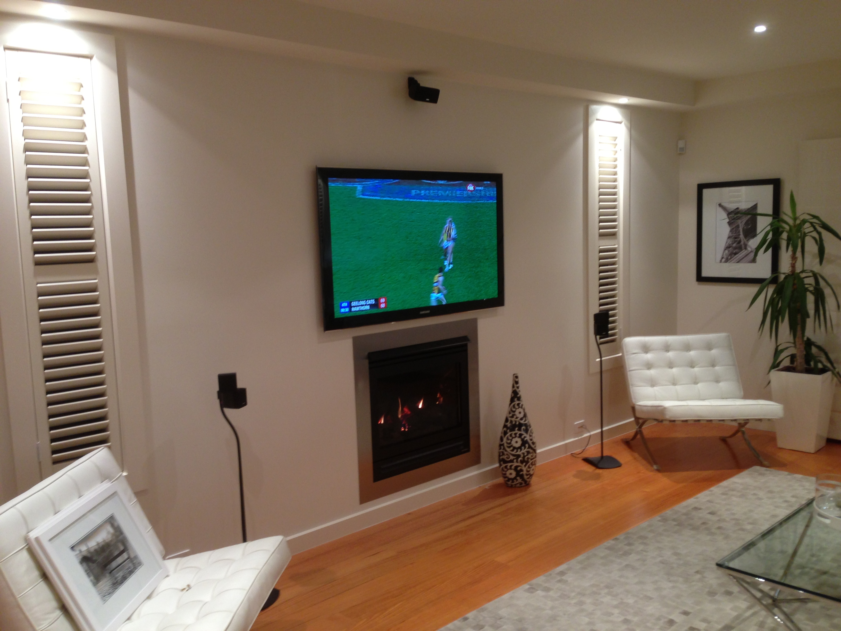 Wall mounted TV above Fire